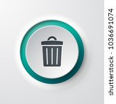 web icon push button trash can | Shutterstock .eps vector #1036691074
