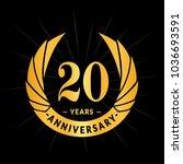 20 years anniversary. elegant... | Shutterstock .eps vector #1036693591