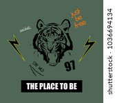 typography slogan with tiger... | Shutterstock .eps vector #1036694134