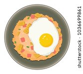 fried rice with sunny side up | Shutterstock .eps vector #1036699861