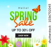 spring sale vector illustration.... | Shutterstock .eps vector #1036702045