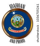 idaho state flag button with a... | Shutterstock . vector #1036705261