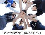 friendly business team .the... | Shutterstock . vector #1036711921