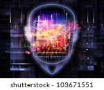 arrangement of head outlines ... | Shutterstock . vector #103671551