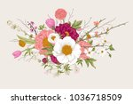 bouquet. spring flowers and... | Shutterstock .eps vector #1036718509