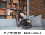 business woman working with... | Shutterstock . vector #1036725271