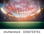 stadium in lights and flashes... | Shutterstock . vector #1036733761