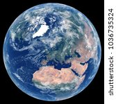 earth from space. satellite... | Shutterstock . vector #1036735324