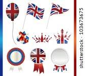 united kingdom union jack set | Shutterstock .eps vector #103673675