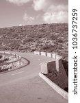 open road  formentor  majorca ... | Shutterstock . vector #1036737259