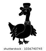 goose character silhouette | Shutterstock .eps vector #1036740745