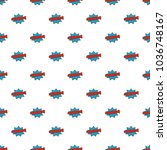 comic boom kaboom pattern... | Shutterstock . vector #1036748167