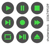 media player control buttons... | Shutterstock .eps vector #1036749109