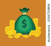 financial growth concept with... | Shutterstock .eps vector #1036753804