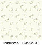 flower pattern background | Shutterstock .eps vector #1036756087