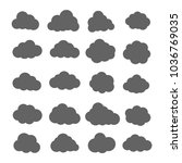 cloud vector icon set. cloud...