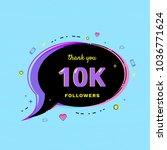 10k followers thank you message ... | Shutterstock .eps vector #1036771624