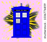 a typical british police box...   Shutterstock . vector #1036776859