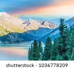 big almaty lake in kazakhstan | Shutterstock . vector #1036778209