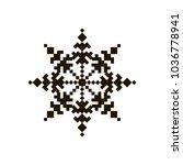 cross stich pattern in flat... | Shutterstock .eps vector #1036778941