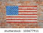 Painted On Bricks American Fla...