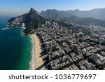 aerial view on the district of... | Shutterstock . vector #1036779697