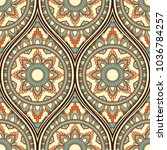 seamless pattern with ethnic... | Shutterstock . vector #1036784257