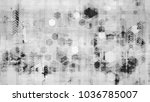 futuristic big data geometric... | Shutterstock .eps vector #1036785007