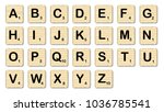 the complete set of letters in... | Shutterstock . vector #1036785541