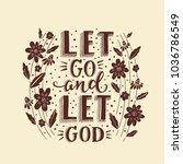 vector religions lettering  ... | Shutterstock .eps vector #1036786549