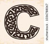 letter of the english alphabet...   Shutterstock .eps vector #1036788067