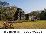 temple in tambdi surla  goa   Shutterstock . vector #1036792201