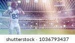 one quarterback american... | Shutterstock . vector #1036793437