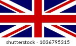 the union jack flag of great... | Shutterstock . vector #1036795315