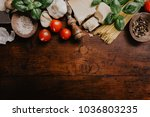 top view of different...   Shutterstock . vector #1036803235