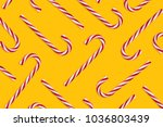 pattern of hard candy cane...   Shutterstock . vector #1036803439