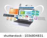 conceptual image of website... | Shutterstock . vector #1036804831