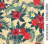 floral seamless pattern.... | Shutterstock .eps vector #1036813084