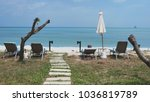 beautiful way from stones to... | Shutterstock . vector #1036819789