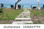 beautiful path from stones to... | Shutterstock . vector #1036819795
