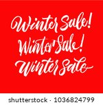 winter sale lettering set.... | Shutterstock .eps vector #1036824799