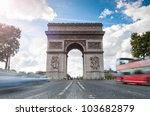 triumphal arch. blue sky and...   Shutterstock . vector #103682879