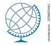 globe symbol silhouette ... | Shutterstock .eps vector #1036829461