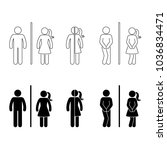 toilet male and female icon.... | Shutterstock .eps vector #1036834471