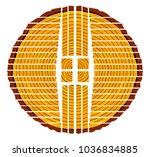 a quarter sawn timber end...   Shutterstock . vector #1036834885