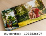 album with photos of travel and ... | Shutterstock . vector #1036836607