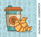 delicious coffee time elements | Shutterstock .eps vector #1036840924