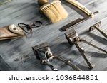 side view of antique and... | Shutterstock . vector #1036844851