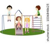 a children's playground.... | Shutterstock .eps vector #1036848625