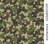 camouflage seamless pattern.... | Shutterstock .eps vector #1036852159